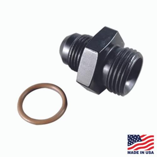 Fragola 495103-BL - #8 x 3/4-16 (#8) Radius O-Ring Fitting Black