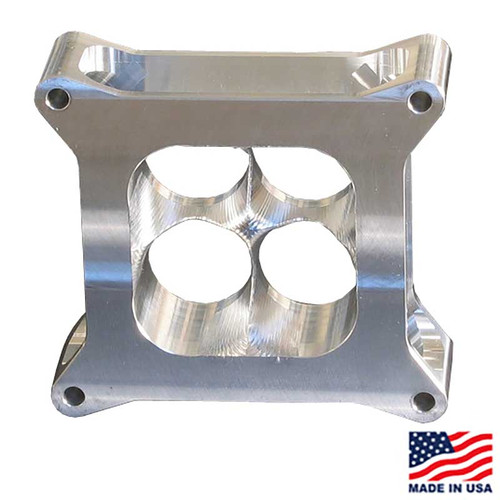 "Super Sucker Carb Spacer for GM CT525, 2"" tall, Lightweight Aluminum, SS4150-2ALW"