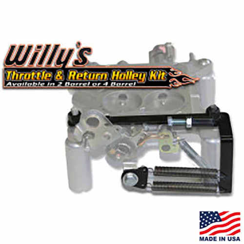 Willy's Throttle & Return Holley Kit - 4-Barrel