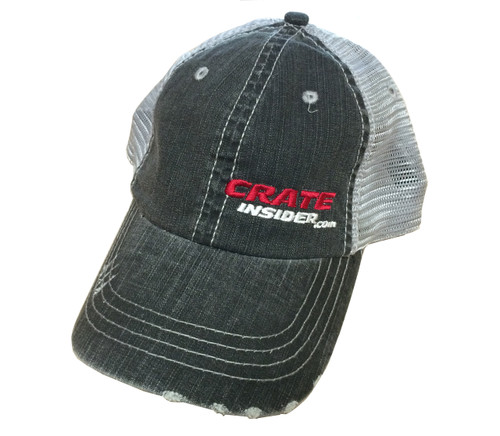 Crate Insider Hat - Distressed, Black - FREE SHIPPING
