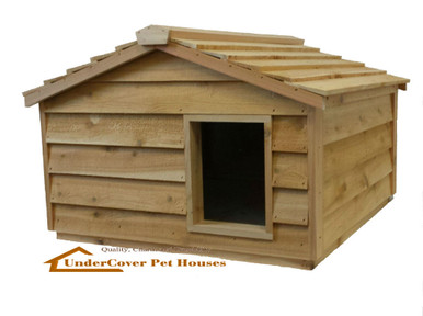 Extra Large Pet House - the best outside cat house for feral or outdoor cats.