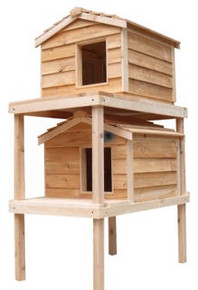 Large Double Decker Insulated Cedar Cat House