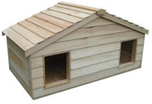 Small Duplex Insulated Cedar Cat House