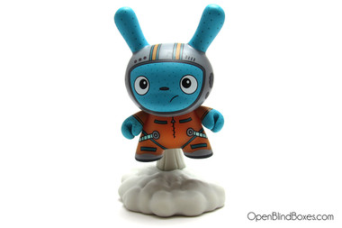 The Bots Orange To The Moon DTA Dunny Kidrobot Front