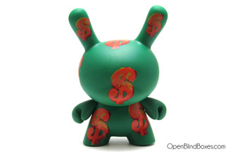 Dollar Green Dunny Andy Warhol 2 Kidrobot Front