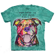 """Happiness is Pit Bull's Smile"" T-Shirt"