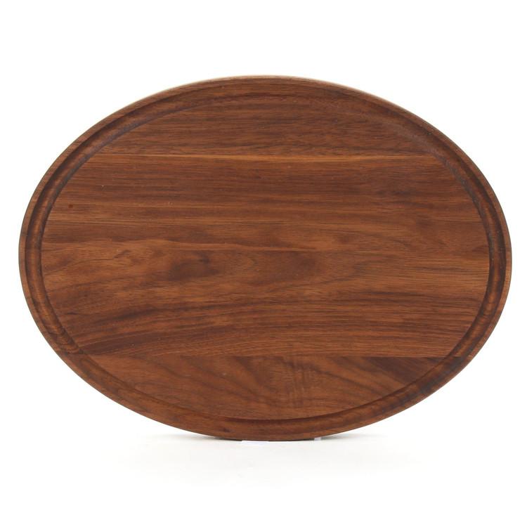 9 x 12 Oval Walnut Cutting Board