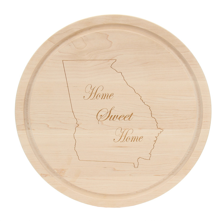 "16"" Circle Cutting Board - Maple (Home Sweet Home)"