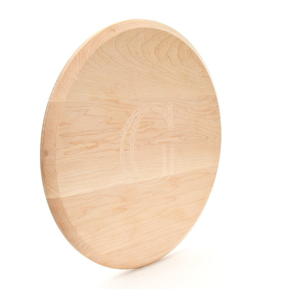 Engraved 16 Inch Round Maple Lazy Susan