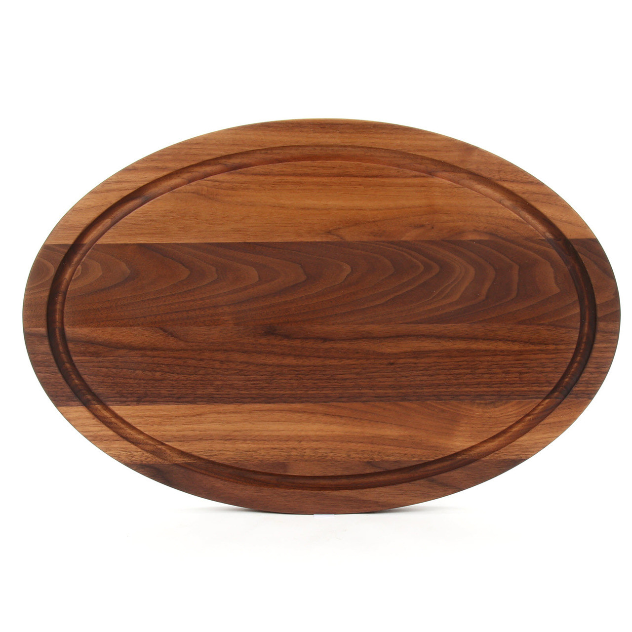 Family Lakehouse Oval Walnut Cutting Board