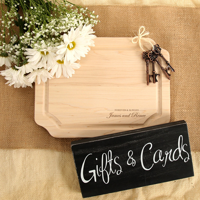 9 X 12 Maple Cutting Board W Engraved Couples Names