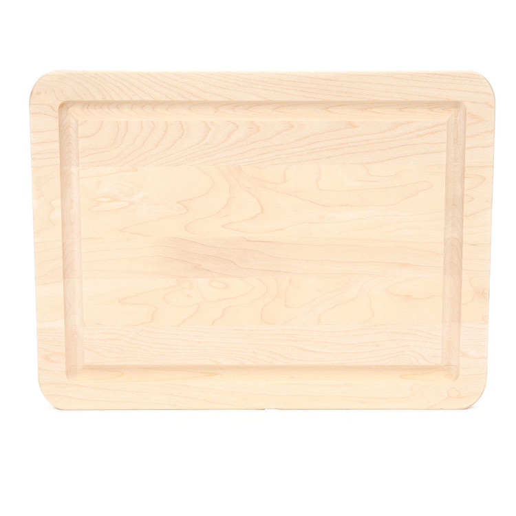 9 x 12 Maple Cutting Board - Carved Initial