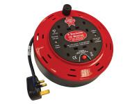 Faithfull Power Plus Cable Reel 240 Volt 10 Metre 10 Amp 4 Socket| Duotool