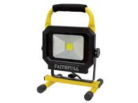 Faithfull Power Plus COB LED Pod Site Light 1400 Lumen 20 Watt 240 Volt  Duotool