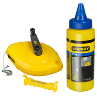 Stanley STA047443 Chalk Line 30m Blue Chalk and Level from Duotool