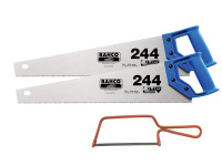 Bahco 2 x 244 Hardpoint Handsaw 500mm (20in) & 1 x 239 Junior Saw 150mm (6in)  Duotool