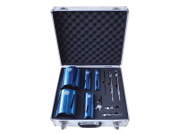 Faithfull Diamond Core Drill Kit & Case Set of 11 from Duotool.