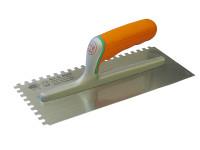 Faithfull Adhesive Trowel Serrated Edge 8mm Soft-Grip Handle 11 x 4.3/4 in