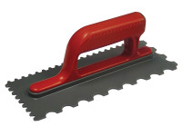 Faithfull Notched Trowel Round 4mm & 7mm Plastic Handle 11 x 4.1/2in