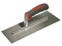 Faithfull Plasterers Trowel Stainless Steel Soft-Grip Handle 13in x 5 in