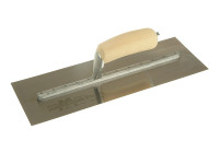 Marshalltown MXS73SS Cement Trowel Stainless Steel Wooden Handle 14in x 4.3/4in from Duotool.