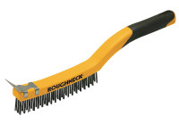 Roughneck Stainless Steel Wire Brush Soft-Grip 350mm (14in)