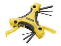 Stanley Tools Hexagon Key Triangle Set of 9 Metric (1.5-6mm)
