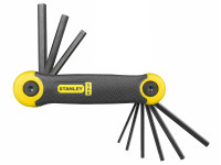 Stanley Tools Hexagon Key Folding Set of 9 Imperial (5/64 - 1/4in)