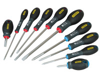 Stanley Tools FatMax Screwdriver Set Parallel/Flared/Pozi Set of 10