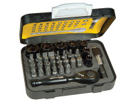Stanley Tools Tech 3 Ratchet Bit Set of 39 1/4in Drive
