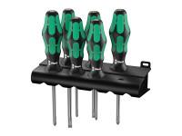 Wera Kraftform Plus Lasertip 335/350/355/6 Screwdriver Set of 6 SL / PZ / PH