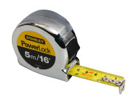 Stanley Tools Powerlock Classic Tape 5m/16ft (Width 19mm)