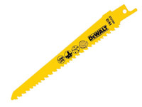 Dewalt Cobolt Steel Sabre Blade Fine Fast Cuts in Wood & Plastic 152mm Pack of 5