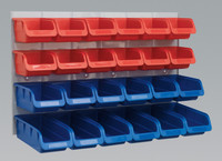 Sealey Bin & Panel Combination 24 Bins - Red/Blue from Toolden