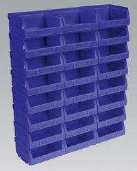 Sealey Plastic Storage Bin 103 x 85 x 53mm - Blue Pack of 24 from Toolden