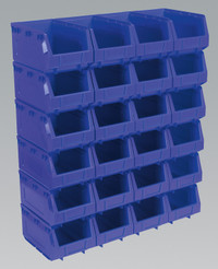 Sealey Plastic Storage Bin 148 x 240 x 128mm - Blue Pack of 24 from Toolden