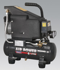 Sealey Compressor 6ltr Direct Drive 1hp from Toolden