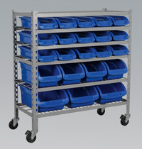 Sealey Mobile Bin Storage System 22 Bins from Toolden