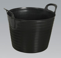 Sealey Heavy-Duty Flexi Tub 40ltr - Black from Toolden