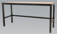 Sealey Workbench 1.8mtr Steel with 25mm Wooden Top from Toolden