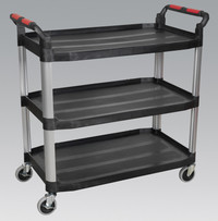 Sealey Workshop Trolley 3-Level Composite from Toolden