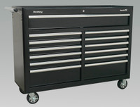 Sealey Rollcab 13 Drawer with Ball Bearing Runners - Black from Toolden