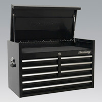 Sealey Topchest 8 Drawer 915mm Heavy-Duty Black from Toolden