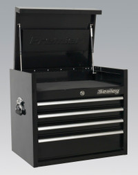 Sealey Topchest 4 Drawer 660mm Heavy-Duty Black from Toolden