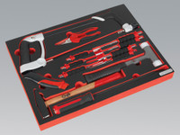 Sealey Tool Tray with Hacksaw, Hammers & Punches 13pc from Toolden