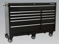 Sealey Rollcab 11 Drawer 1425mm Heavy-Duty Black from Toolden