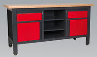 Sealey Workstation with 2 Drawers, 2 Cupboards & Open Storage from Toolden
