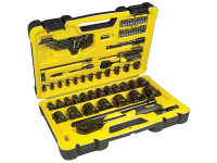 Stanley Tools Tech 3 Socket Set of 78 1/4in & 1/2in Drive