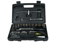 Stanley Tools Socket Set of 50 Metric 1/4in & 1/2in Drive