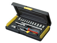 Stanley Tools MicroTough Socket Set of 17 Metric 1/4in Drive
